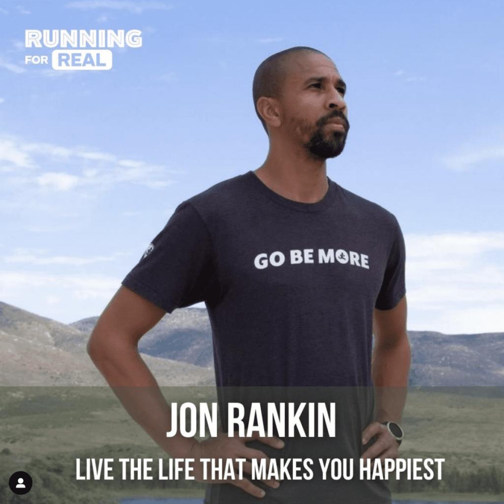 Jon Running for Real IG post